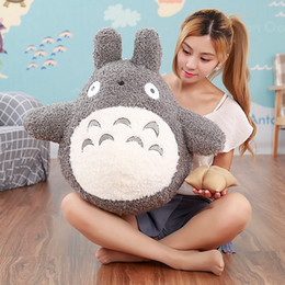 Wholesale famous movies resale online - 40cm Famous Cartoon Movie Character Lovely Plush Totoro Toy Soft Stuffed Pillow Cushion Birthday Gift Toys for Children Kids LA105