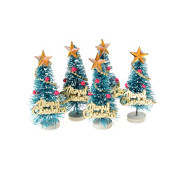 small pine trees christmas decoration mini snow christmas tree decor christmas decorations for home 2017 supplies new year - Small Metal Christmas Tree