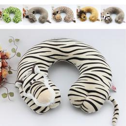 $enCountryForm.capitalKeyWord NZ - Free Shipping Novelty Plush Animal U-Shape Neck Pillow Rest Car Comfort Travel Pillows wholesale Retail