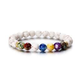 f92c6fa143 Vendita Buddha Bracciali 7 Chakra Healing Mala Meditazione Preghiera Yoga  Gioielli Donna Bracciale Round Acrilico perline Tiger Eye Beads