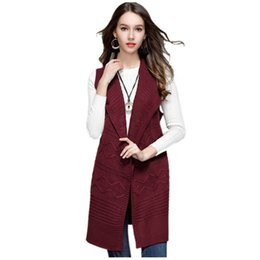China New Women's Fashion Cardigan Sleeveless Sweater For Ladies Tank Turn Down Collar Female Cardigan Knitwear Tops Plus Size supplier ladies sleeveless sweaters suppliers