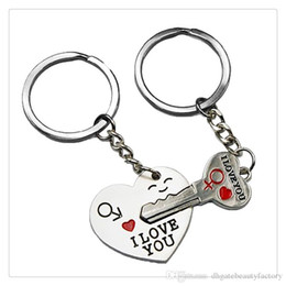 $enCountryForm.capitalKeyWord Canada - Fashion Jewelry KeyChains Cupid Arrow Love Gift Key Chains Wedding Supplies Birthday Present Gift I LOVE YOU Heart Keychain DHL