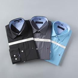 6f57a4752f Atacado 2017 Nova Marca Primavera Outono Casuais Homens Camisa de Manga  Longa de Algodão de Alta Qualidade Formal de Negócios Xadrez Mens Camisas  de Vestido ...