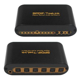 $enCountryForm.capitalKeyWord NZ - hot sale SPDIF TOSLINK Digital Optical Audio True Matrix 4x2 Switch Switcher Splitter 4 In 2 Out Video Converter Remote Control