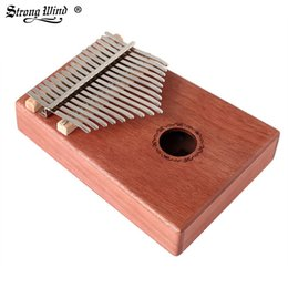Outlet wOOd online shopping - 17 tone mahogany full single kalinba thumb piano Kalimba finger piano factory outlet beginner send gifts