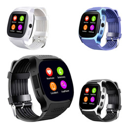 Chinese  Heart Rate Monitor Bluetooth Smartwatch T8 T8HR Fitness Tracker Smart Watch Support SIM TF Card With 2.0MP Camera For iOS Android Phones manufacturers