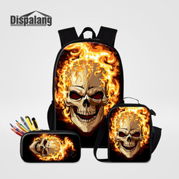 Wholesale Dispalang Stylish Backpacking Bag set Children Lunchbox Cooler Bag With Pencil Case Fire Backpack Women Rucksack