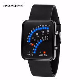 Men Digital Wrist Watches Australia - Susenstone 2018 New Luxury Men Watch Mens Futuristic Japanese Style Multicolor LED Sport Wrist Watch digital Clock Relogio Y25