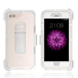 Großhandel 3 in 1 klar roboter case transparent ganzkörper abdeckung mit clip für iphone x xs max 8 7 6 plus samsung s7 edge s8 s9 plus hinweis 9 8