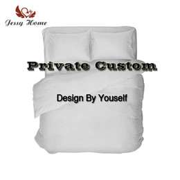 factory beds direct 2019 - 3Pcs 4Pcs Bedding Set Customized Design Duvet Cover Pillowcase Pillow Cover Flat Sheet Fitted Sheet Factory Direct Drops