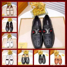 Micro Gears NZ - Brand Luxury Designer Wedding Low Heels Leather Pearl Women Shoe Moore British College Wind Dresses Shoe Gear Metal Buckle Small Size 38-45