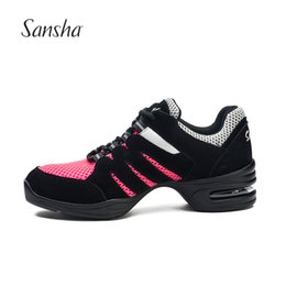 Jazz dancing shoes online shopping - Sansha New Arrival Air Mesh Dance Shoes Soft Outsole Breathable Dancing Sneakers H150601