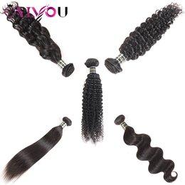 China Brazilian Unprocessed Virgin Hair Bundle Deals Body Wave straight Deep Wave Kinky Curly Human Hair Bundles Remy Hair Extensions Sample Order supplier deep curly extensions suppliers