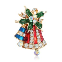 Brooches & Pins Gold Played Crystal Brooch Wedding Xmas Gift Stockings Uk Seller Auction Only Jewellery & Watches 1