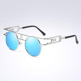 e085f28a93 Steampunk Goggles Sale UK - Hot Sale Metal Frame Steampunk Sunglasses Women  Brand Designer Round Polarized
