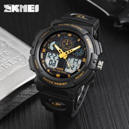$enCountryForm.capitalKeyWord NZ - Fashion Brand Men Watch Sport Analog Quartz Watch Man Wristwatch Dual Display Watches Digital 12 24 Hour Relogio Masculino Clock