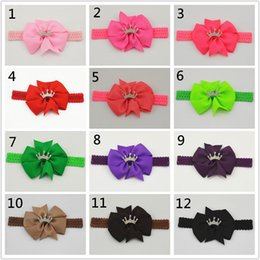 Hair jewels online shopping - 20pcs Crown jewel Hair band bowknot hair girls rustic little flower fresh pearl stressed headband hair band of tracks borrac HD037