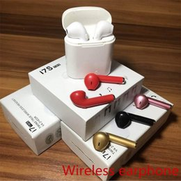 Wholesale I7 I7S TWS Twins Bluetooth Earbuds Mini Wireless Earphones Headset with Mic Stereo V4 Headphone for IphoneX I8X Android Samsun phones