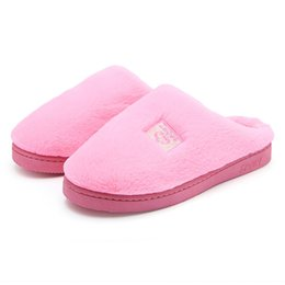 cute house shoes for women UK - Soft Plush Cotton Cute Slippers Shoes Non-Slip Floor ,Indoor House ,Home Furry Slippers Women Shoes For Bedroom#3