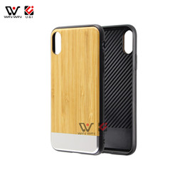 Luxury I Phone Case Canada - Original wood case for iPhone x tpu rubber coating hard pc back Luxury aluminum cell phone cases for i Phone 10 shockproof coque