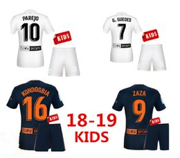 2b5b1d067 2019 PAREJO Kids kit soccer jersey 18 19 KONDOGBIA S.MINA Chandal Youth set  ZAZA RODRIGOM Football shirt Children s Shirts and Shorts Set