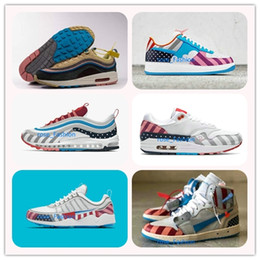74eae69898463 2018 Piet Parra Series Designer Shoes X Men Maxes 1 Zoom Spiridon White  Multi Rainbow Sean Wotherspoon New Sports Sneakers Running Trainers
