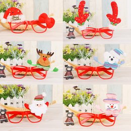 7de5a50f1322e Christmas Glasses Santa Claus Snowman Eyeglasses Frame Goggle Spectacles  Party Fancy Dress Costume Cartoon Accessory GGA805 400pcs