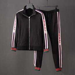 $enCountryForm.capitalKeyWord Canada - 2019 new Medusa jacket suit casual men's running sports suit letter stripe print Slim clothes clothes track and field Medusa fashion suit