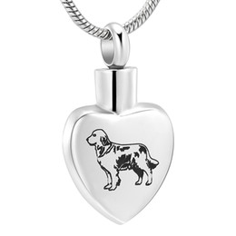 Chinese  Basset Hound Laser Heart Memorial Urn Necklace Stainless Steel Dog Cremation Pendant Jewellery Funeral Souvenirs for Pet IJD12432 manufacturers