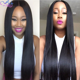 color for straight hair Australia - Brazilian Virgin Hair Straight Lace Front Human Hair Wigs for Black Women Swiss Lace Front Wigs with Baby Hairs Natural Color