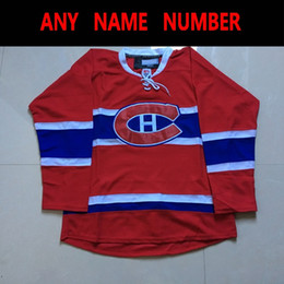 Discount canadiens jersey name - Montreal Canadiens Hockey Jerseys Blank  Red Customied Jerseys Any Name Number 40f349371