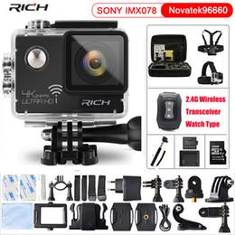 24fps Camera NZ - RICH Action Camera NT96660 True 4K 3840*2160P 24FPS Wifi 16MP remote control 170D Lens Mini Cam Waterproof Sports Camera