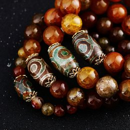 $enCountryForm.capitalKeyWord Australia - Natural Stone Dragon agate Bracelet Men Buddha Beads Chinese Style Jewelry Gift Power Handmade Healing crystal Reiki Beads Chain