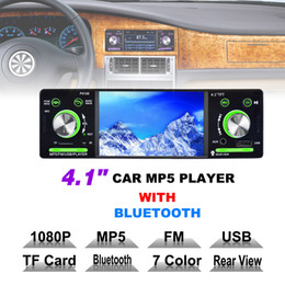 car mp3 mp5 player 2019 - 4.1 Inch 1 Din HD Car Stereo Radio Bluetooth MP3 MP5 Player Support USB FM TF AUX with Remote Control CMO_226