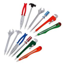 Vise Tool Australia - 6pcs Simulation Hardware Tools Vise Hand Knife Hammer Creative Ballpoint Pens Office School Supplies