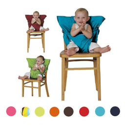 infant feeding chairs UK - Baby Sack Seats Portable High Chair Shoulder Strap Infant Safety Seat Belt Toddler Feeding Seat Cover Harness Dining Chair Seat Belt