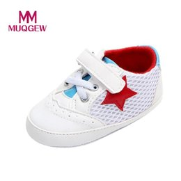 Kids Anti Slip Shoes Canada - Baby boys girls shoes Newborn Infant Baby Solid Star Mesh Anti-slip Soft Casual Shoes Sneaker kids for boys girls