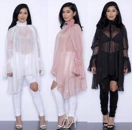 Fashion Summer Women Lace Dress Ruffled Long Sleeve Loose Style Female Clothing Chiffon Elegant Casual Dresses