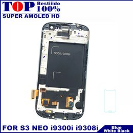 $enCountryForm.capitalKeyWord NZ - 100% AMOLED LCD Display Screen Touch Digitizer for Galaxy S3 Neo i9300i i9301 i9301i i9308i Phone with Frame Replacement