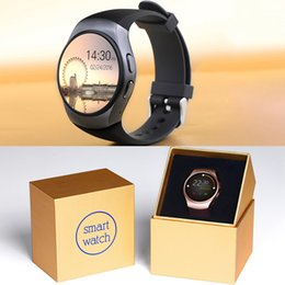 Water Resistant Gps NZ - KW18 Bluetooth Smart Watch 1.3 inches IPS Round Touch Screen Water Resistant KW18 Smartwatch Phone SIM Card Slot Sleep Heart Rate Monit