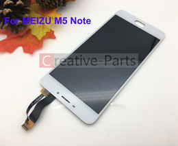 White Touch Screen Assembly Australia - Original LCD For M5 Note White Color With Touch Glass Digitizer Assembly Display Screen Replacement Parts