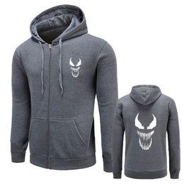 Discount costume tracksuit men - New Sweatshirts Hoodie Venom Hooded Men Cool Black Gray Fall   Winter Warm Sportswear Men's Casual Tracksuit Costum