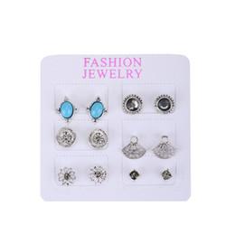 Discount original nails - European New Pattern Alloy Ear Nail Fashion Popular Group Combine Earrings Suit Original Alloy Set Jewel Women's Ea