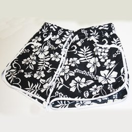 $enCountryForm.capitalKeyWord Canada - Women running shorts floral printed loose shorts flower drawstring shorts women beach hot pants girl summer yoga pants clothing