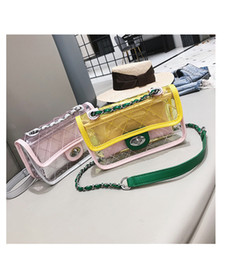 $enCountryForm.capitalKeyWord Australia - 2018 new laser jelly package transparent bag ins super fire bag chain shoulder Messenger bag fashion