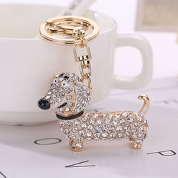 wholesale dog lover gifts NZ - Fashion Dog Dachshund Keychain Bag Charm Pendant Keys Holder Keyring Jewelry For Women Girl Gift Keychain Jewelry New