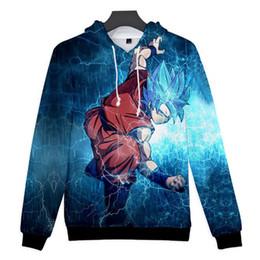 Discount clothes japan - Japan Anime Dragon Ball Z DBZ Pocket Hooded Sweatshirts Men Super Saiya Kid Goku Vegeta Print 3D Hoodie Students Teen Cl
