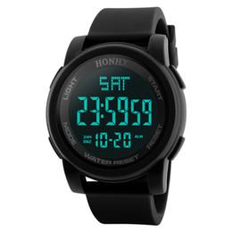 Men Digital Wrist Watches Australia - HONHX Sports Watch Men Analog Digital Quartz  Silicone Army Sport LED Waterproof Date Wrist Watches Men Relogio #15