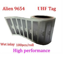 $enCountryForm.capitalKeyWord Australia - Alien 9654 UHF RFID wet inlay 100pcs per roll 860 960MHZ Higgs3 915M can be used to RFID tag