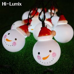 hi lumix 35m 5m 65m solar powered led string light snowman waterproof decoration outdoor indoor for christmas treepartypatio
